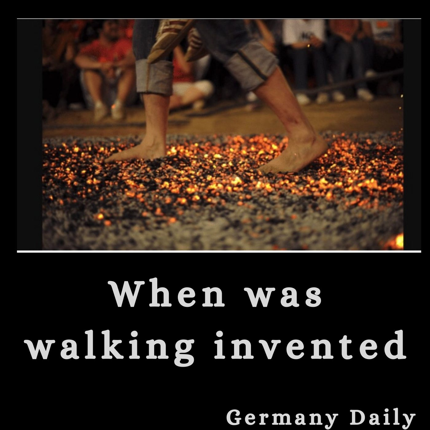when was walking invented